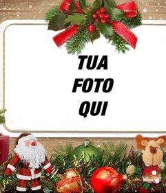 Effetto Foto con addobbi natalizi per caricare la tua foto