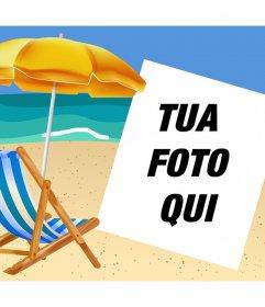 Se vi piace la spiaggia poi caricare la tua foto per decorare