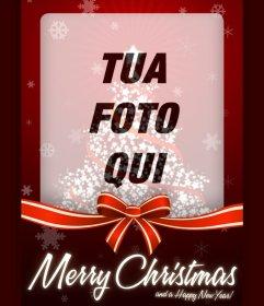 Foto effetto della cartolina di Natale per uploadyour foto