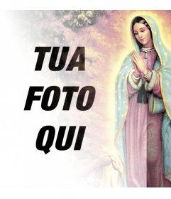 Fotomontaggi con immagini della Vergine di Guadalupe