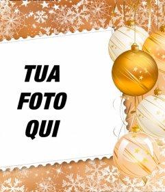 Metti la tua foto in una cornice decorata con decorazioni natalizie