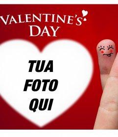 Bella cartolina di San Valentino di caricare una foto allinterno di un cuore