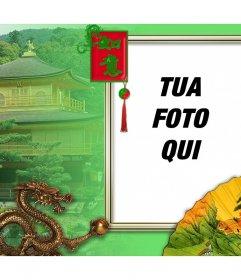 Quadro della cultura cinese che è possibile modificare con la tua foto