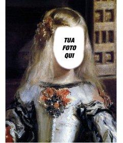 Fotomontaggio del quadro della Infanta Margarita Velazquez per posizionare la vostra faccia