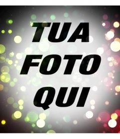Filtro di luci colorate da aggiungere alle tue foto