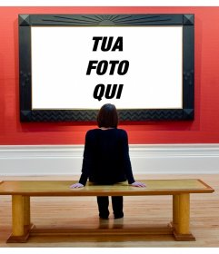 Fotomontaggio di mettere la tua foto in un museo darte, agli occhi di un visitatore