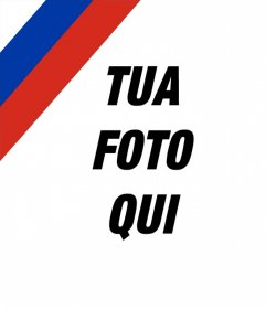 Foto effetto di mettere la bandiera russa nellimmagine