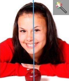 """È possibile applicare il filtro Controllo sfocatura di immagine, dando una sfocatura all""""immagine. Basta caricare un immagine e si possono modificare come un""""applicazione on-line senza scaricare un editor di grafica"""