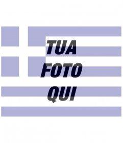 Fotomontaggi creatore della bandiera Grecia con una foto si carica