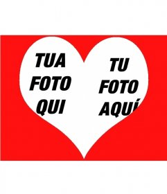 Effetto foto per mettere due foto dentro un cuore
