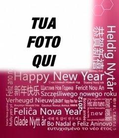 Auguri di capodanno in diverse lingue per mettere la tua foto