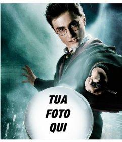 Fotomontaggio di Harry Potter con un