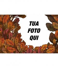Autunno cornice con foglie di albero