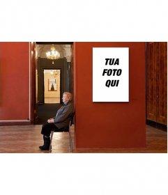 Fotomontaggio di mettere la tua foto in un museo noioso