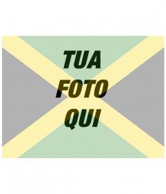 Collage di mettere la bandiera della Giamaica con la vostra foto