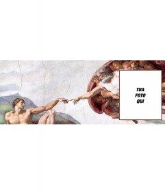 Copertina personalizzata foto con limmagine La Creazione di Adamo