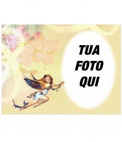 Photo frame: angioletto in cornice arrotondata