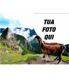 Effetto foto con le rovine di Machu Picchu