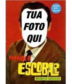 Appare come Manolo Escobar in questo fotomontaggio di dare un volto