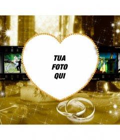 Photo frame per fidanzati con un cuore al centro