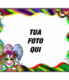 Carnival photo frame di personalizzare on-line