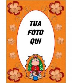 Cornice religiosa per le tue immagini con limmagine della Vergine Maria