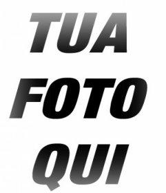 Cornice con bordi sfocatura effetto alle vostre foto