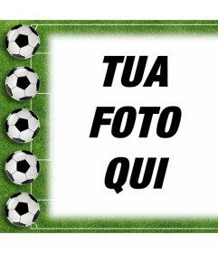Calcio effetto foto di caricare la tua foto
