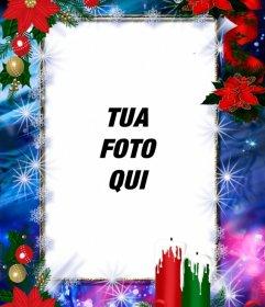 Cornici per foto decorata per il Natale e si può personalizzare con la tua foto