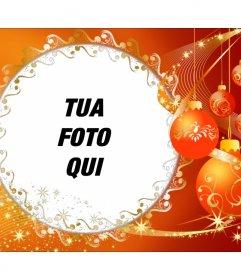 Foto cornice con ornamenti natalizi per mettere la tua foto