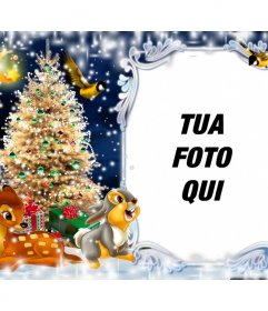 Cartolina di Natale per mettere la vostra foto con Bambi