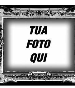 Struttura in bianco e nero con stile vittoriano per le tue foto