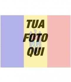 Fotomontaggio di una foto con la bandiera della Moldavia da fare online