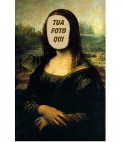 Fotomontaggio della Monna Lisa di mettere la vostra faccia in linea