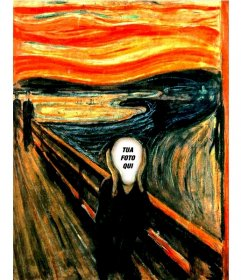 Fotomontaggio del celebre dipinto di Munch Scream