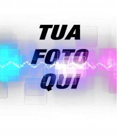 Aggiungi le tue foto un effetto speciale foto con laser e colori fluorescenti