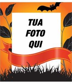 Cornice decorativa per la modifica con la tua foto per Halloween