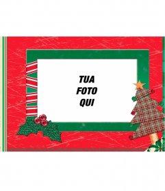 Natale cornice fatta con la carta di mettere la tua foto
