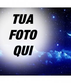 Notte di stelle e la luna di mettere la tua foto come filtro in linea