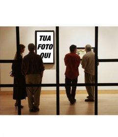Fotomontaggio di mettere la tua foto in un museo moderno
