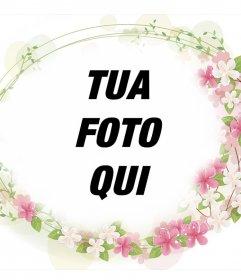 Frame per aggiungere alle foto bei fiori intorno ad esso e