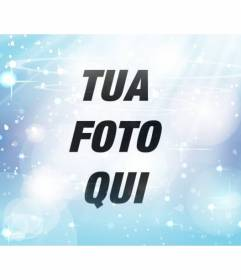 Filtro blu per aggiungere alle vostre foto, in cui è possibile applicare un effetto sfumato e bagliori per la tua foto online