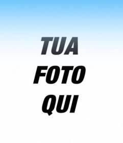 Photo Filter per aggiungere alle tue foto una sfumatura blu e mettere un testo on-line