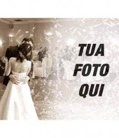 Filtra per modificare le immagini con un matrimonio la foto danza sposa in color seppia per mettere la vostra foto