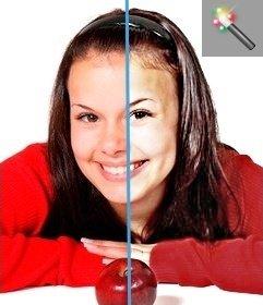Filtro per aumentare la luminosità e il contrasto delle foto on-line