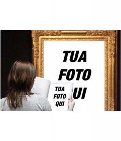 Foto effetto in cui appari in un famoso dipinto in un museo