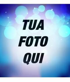 Foto filtro con luci lampeggianti blu con cerchi color turchese brillante