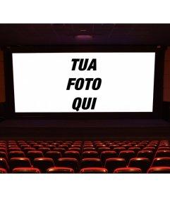 Mettere una foto sul grande schermo di un film di fronte alle bancarelle e fare il vostro proprio scena di un film