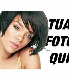 Fotomontaggio con immagini di Rihanna