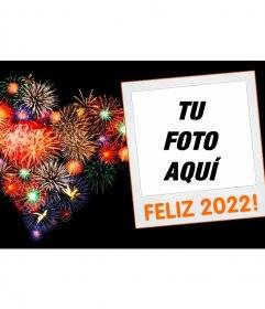 Cornice per foto di Capodanno 2020 con una Polaroid